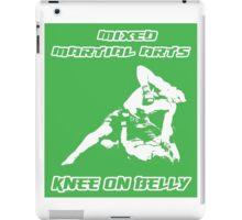 Mixed Martial Arts Knee On Belly Green  iPad Case/Skin