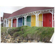 Multicoloured Huts Poster