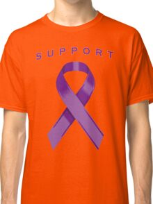 Purple Awareness Ribbon of Support Classic T-Shirt