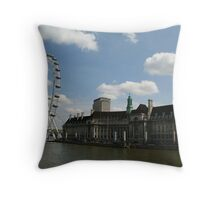 Engineering Marvel - The London Eye Throw Pillow