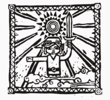 Wind Waker Block Print black by Erik Johnson