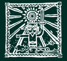 Wind Waker Block Print white by Erik Johnson