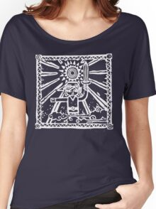 Wind Waker Block Print white Women's Relaxed Fit T-Shirt