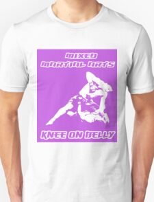 Mixed Martial Arts Knee On Belly Purple  Unisex T-Shirt