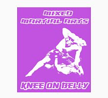 Mixed Martial Arts Knee On Belly Purple  T-Shirt
