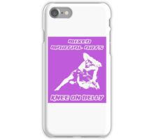 Mixed Martial Arts Knee On Belly Purple  iPhone Case/Skin