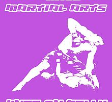 Mixed Martial Arts Knee On Belly Purple  by yin888