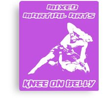 Mixed Martial Arts Knee On Belly Purple  Canvas Print