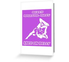 Mixed Martial Arts Knee On Belly Purple  Greeting Card