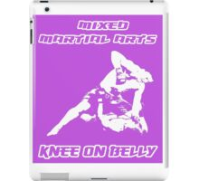 Mixed Martial Arts Knee On Belly Purple  iPad Case/Skin