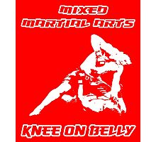 Mixed Martial Arts Knee On Belly Red Photographic Print