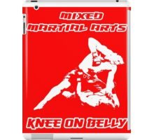 Mixed Martial Arts Knee On Belly Red iPad Case/Skin