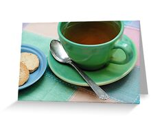 Elevenses on the Patio Greeting Card