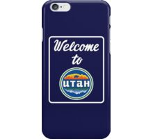 Welcome to Utah Road Sign Vintage 90s iPhone Case/Skin