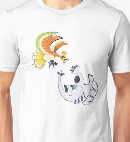 Ho-oh and Lugia - Pokemon Gold and Silver Unisex T-Shirt
