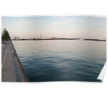 Looking at the Portlands from Sugar Beach Poster