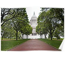 Providence Statehouse Pano  Poster