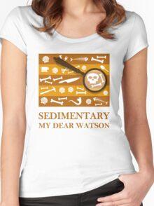 Sedimentary Watson! Women's Fitted Scoop T-Shirt