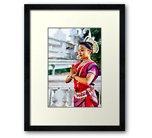 Traditional Indian Dancer in Dheboor, India Framed Print