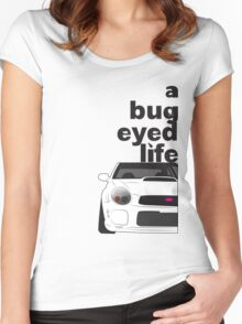 Subaru Bug Eyed life Women's Fitted Scoop T-Shirt