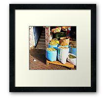Spice Sacks Framed Print