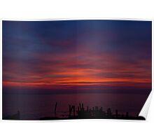 Delaware Bay Sunset Poster