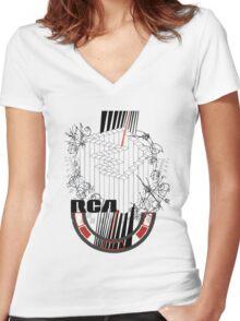 Stroked mashup Women's Fitted V-Neck T-Shirt