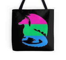 Polysexual Pride Dragon Silhouette Tote Bag