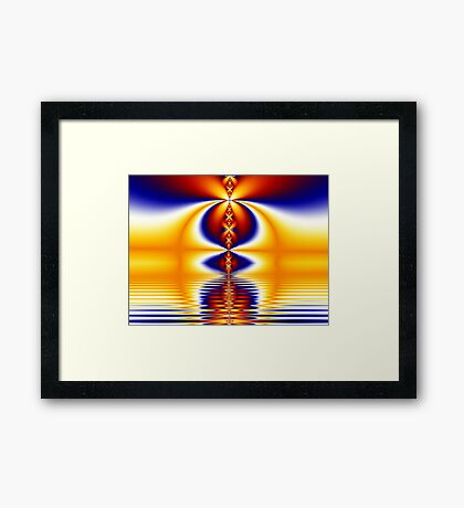 Sunset on the Water Planet Framed Print