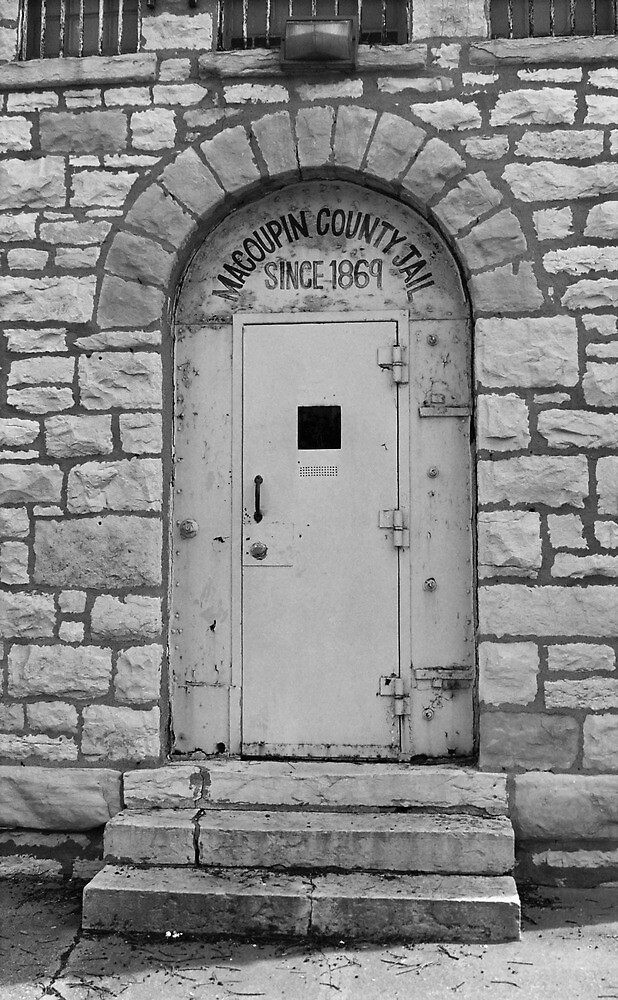 Route 66 - Macoupin County Jail by Frank Romeo