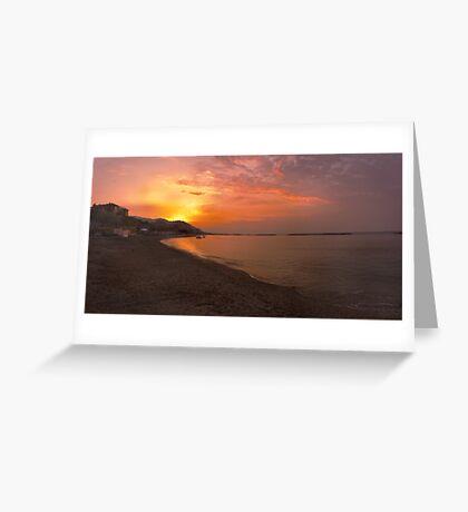 San Bartolomeo al Mare Sunrise. Greeting Card