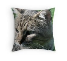there's a history behind those eyes Throw Pillow