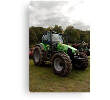 Tractor in police livery Canvas Print