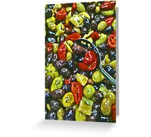 Olives! - Wegman's Supermarket, Virginia Greeting Card