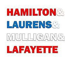 Hamilton & Laurens & Mulligan & Lafayette Photographic Print