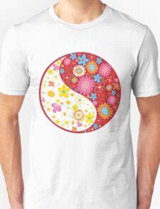 Yin Yang Flowers T-Shirt