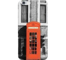 LONDON CALLING RED TELEPHONE BOOTH iPhone Case/Skin