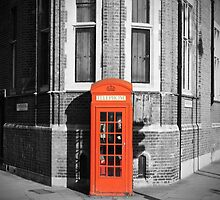 LONDON CALLING RED TELEPHONE BOOTH by Byzas