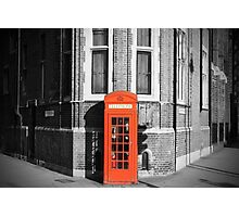 LONDON CALLING RED TELEPHONE BOOTH Photographic Print