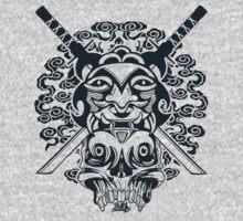 Samurai Mask and Skull One Piece - Long Sleeve