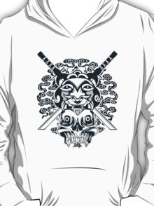 Samurai Mask and Skull T-Shirt