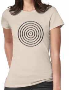 Spiky Ring Pattern Womens Fitted T-Shirt