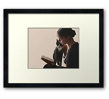 The PurrFect Read Framed Print