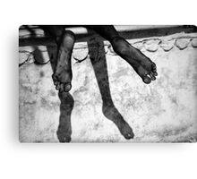 Sleepy feet Canvas Print