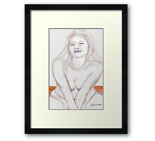 Girl on a Sand Dune Framed Print