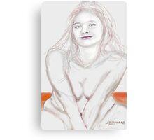 Girl on a Sand Dune Canvas Print