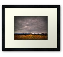 Before a Snowstorm Framed Print