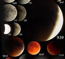 2015 Lunar Eclipse - Blood Moon Phases by sensameleon