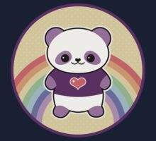 Cute Purple Panda Kids Tee