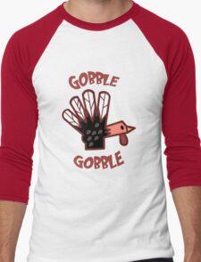 Gobble Gobble Men's Baseball ¾ T-Shirt